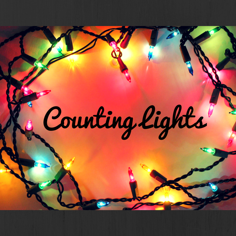 Counting Lights {counting by rote and 1:1 correspondence}