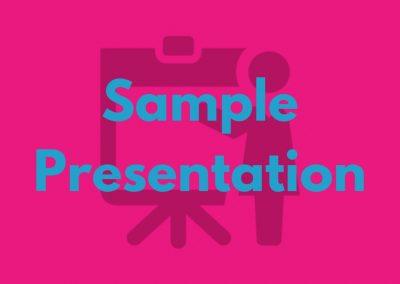 Sample Presentations